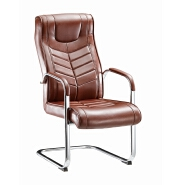 Wholesales hot selling fashionable leather steelcase office chair with bow foot