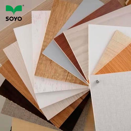 Wholesale Furniture Hardwood Core warm white melamine Plywood 15mm