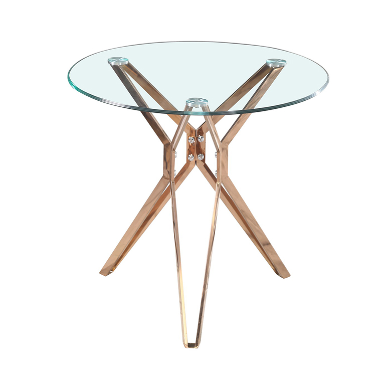 round glass top gold dining table designs