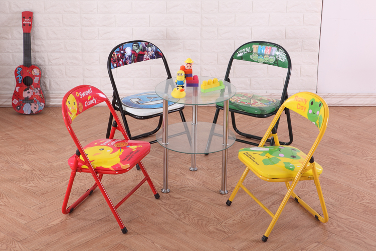 animal cartoon metal frame folding chair children folding chair