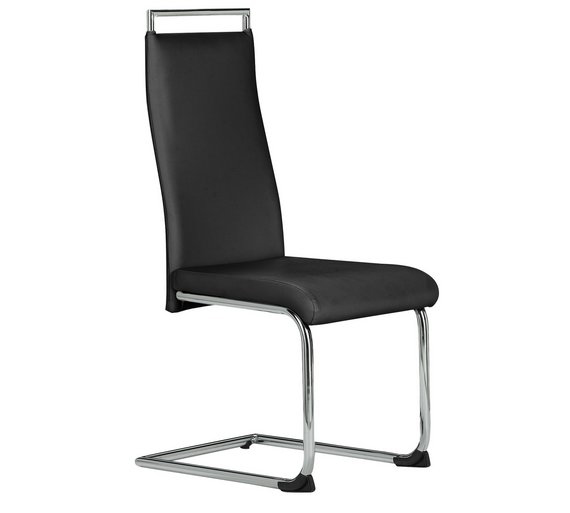Fashion Design Modern white and black leather high back bow chrome round legs dining chairs with handle