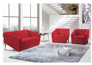 Fashion design office sofa set with stainless steel legs
