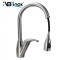 Single Handle High Arc Brushed Pull out Kitchen Faucet Single Level Stainless Steel Kitchen Sink Fau