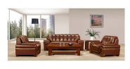Best price bright colored leather sofa set factory sell directly