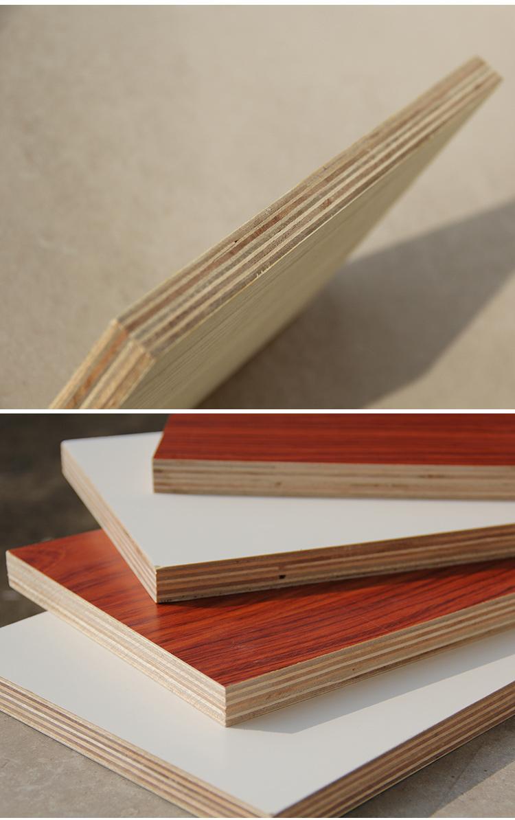 nice looking 16mm Eucalyptus core  melamine plywood