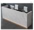 New beautiful fashion front desk furniture white salon reception desk