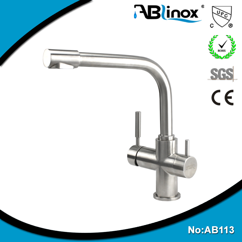 Hot selling stainless steel UPC 2 way kitchen faucet