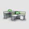 space saving furniture L shape steel height adjustable desk healthy protection Best office furniture