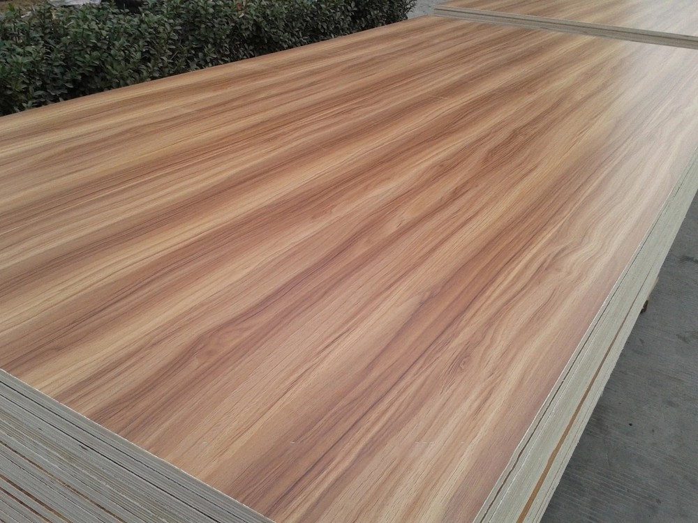 wood grain colors melamine faced plywood from China