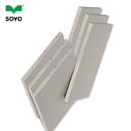 Healthy aesthetically pleasing gypsum board for use in interior construction waterproof insulated