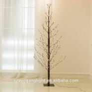 Waterproof Christmas 180CM 6feet 216Led Brown PVC Round Ball Tree Light for Landscape/Indoors/desk d