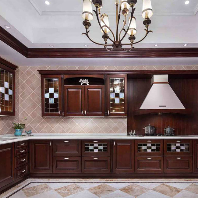 Knock down fancy particle board kitchen cabinets