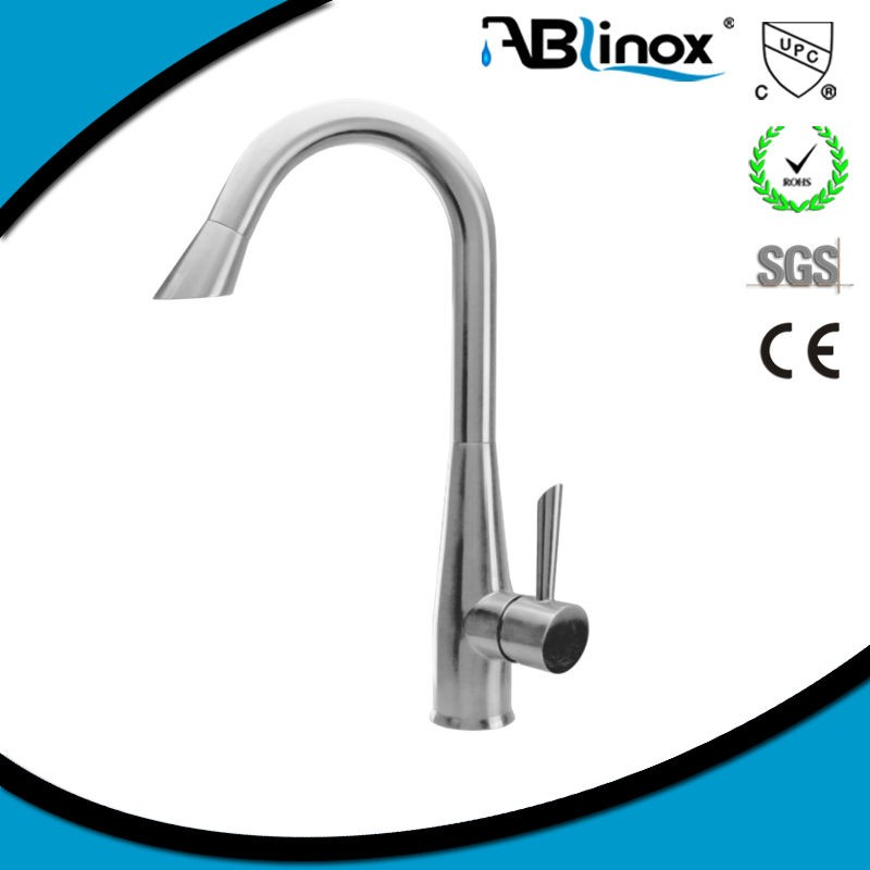 304 lateral articulated brush pull down kitchen sink faucet mixer