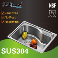 ABLinox Certificate NSF SUS stainless steel basin sink for Kitchen equipment
