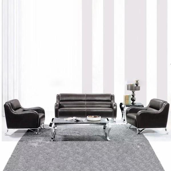 2015 luxury leather Europe style office sofa furniture