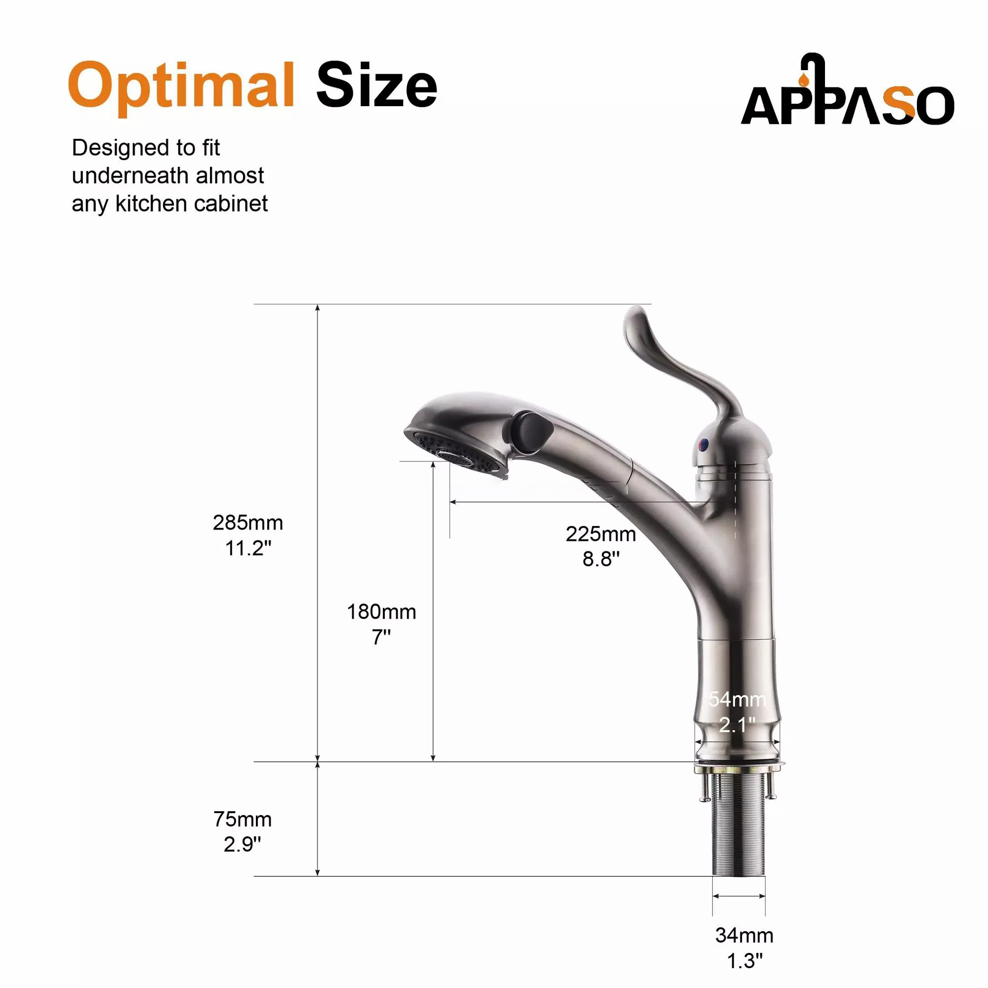 pull out sprayer kitchen faucet