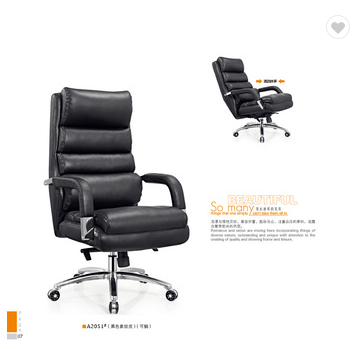 Black executive office leather chair armrest covers factory sell directly SY4
