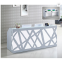 Fashion Popular Light Grey Modern Salon Reception Desk