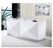 White Standard Size Small Front Reception Desk