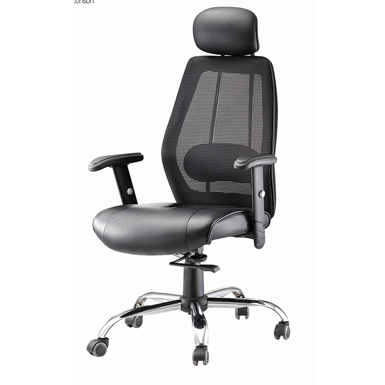 BF-019C# Fashion mesh swivel lift chair with neck support