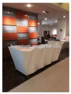 Diamond design office reception desk white reception desk