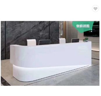 Modern furniture beauty salon led reception desk for 2 person
