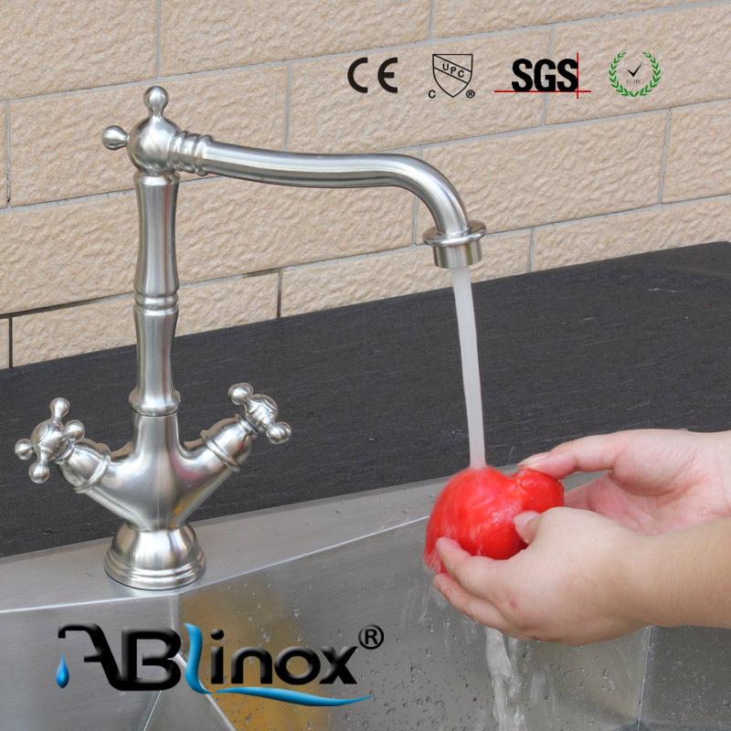 "ABLinox 3-way kitchen sink mixer tap 8"" kitchen faucet 40mm faucet cartridge"