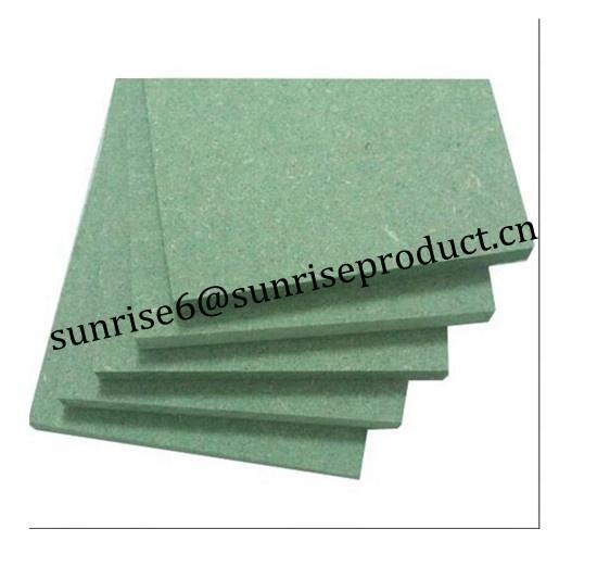 green waterproof moistureproof plain melamine laminated mdf board