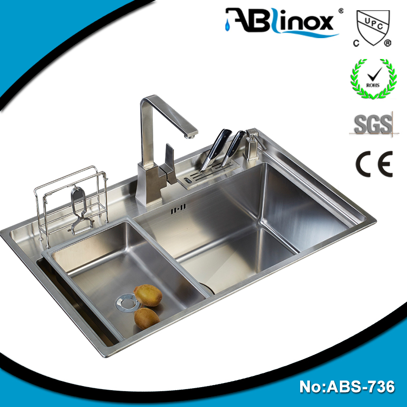 Wholesale ss304 single bowl / double bowl sinks used kitchen