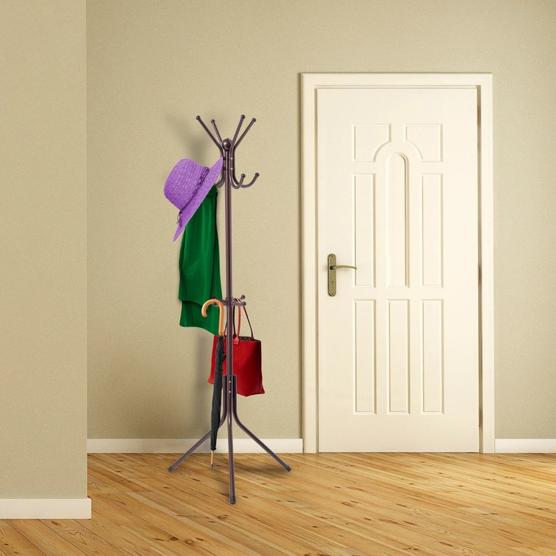 cheap black metal coat rack for clothes