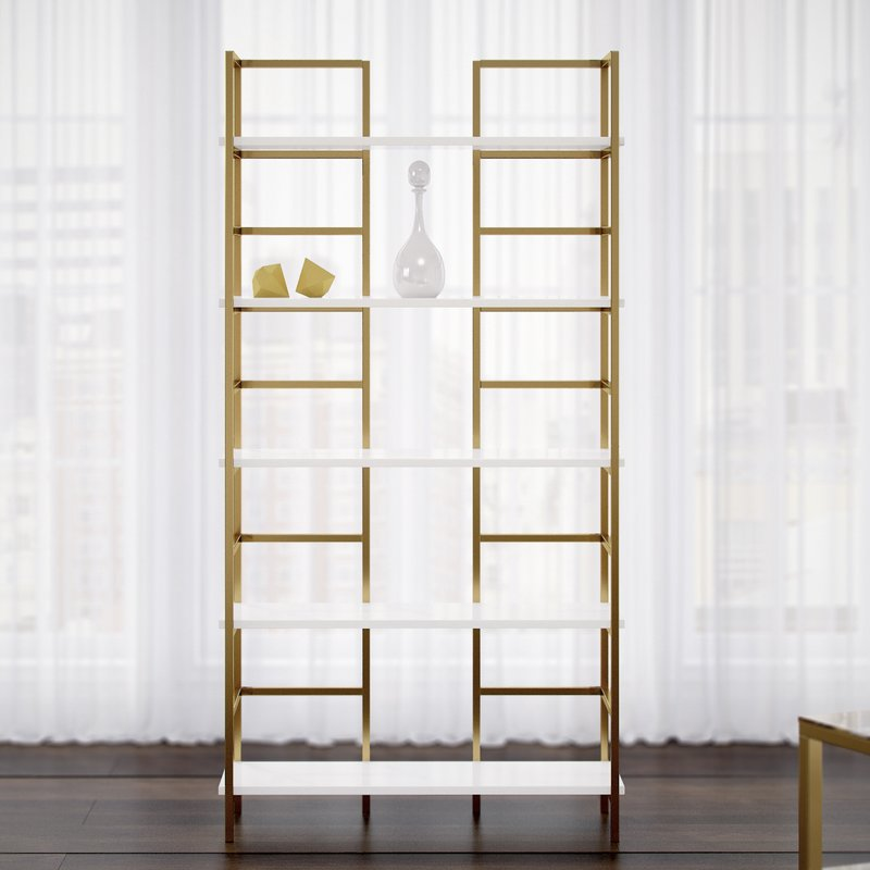 luxury standard size bookshelf gold
