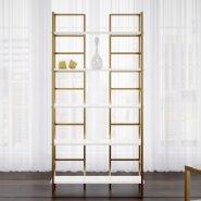 luxury standard size bookshelf gold