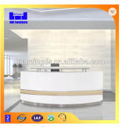 White curved office furniture office counter design on sell