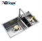Wholesale commercial double-bowl stainless steel kitchen sink