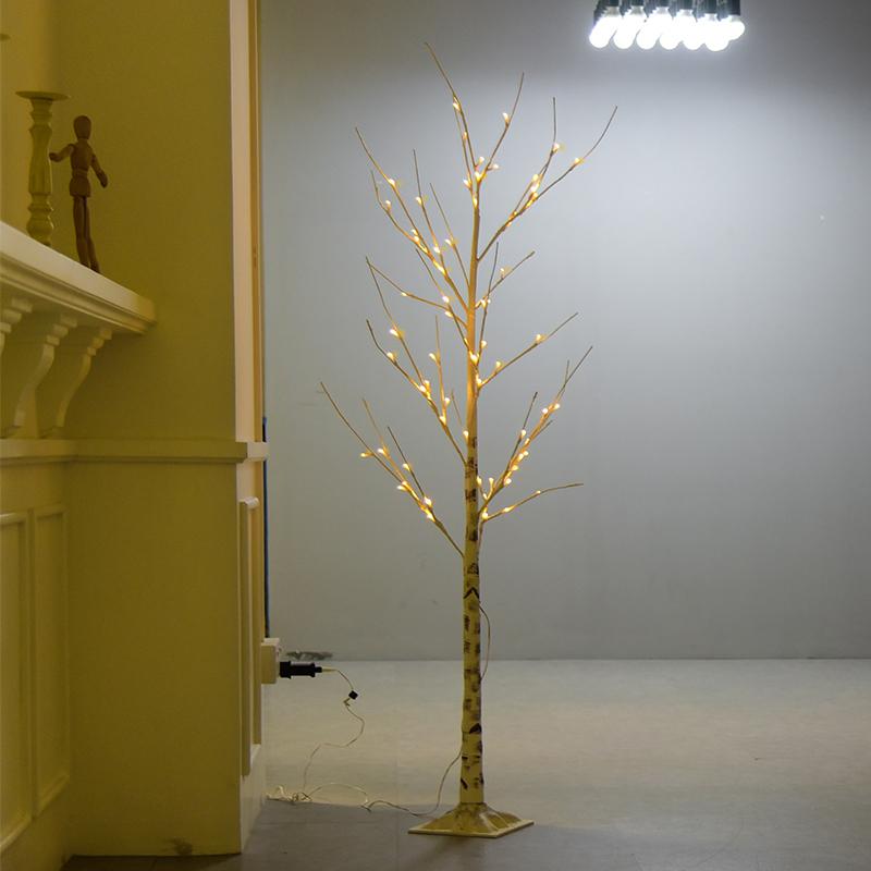 Latest Product 1.5m Tall 72led Christmas Birch Tree Light LED Twig Tree Wholesale Price