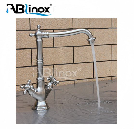 ABLinox 2017 Modern design hot and cold 3 way kitchen faucet