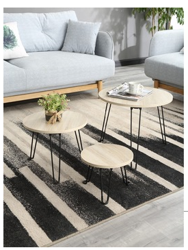 Stable coffee table mdf wood coffee table modern for apartment