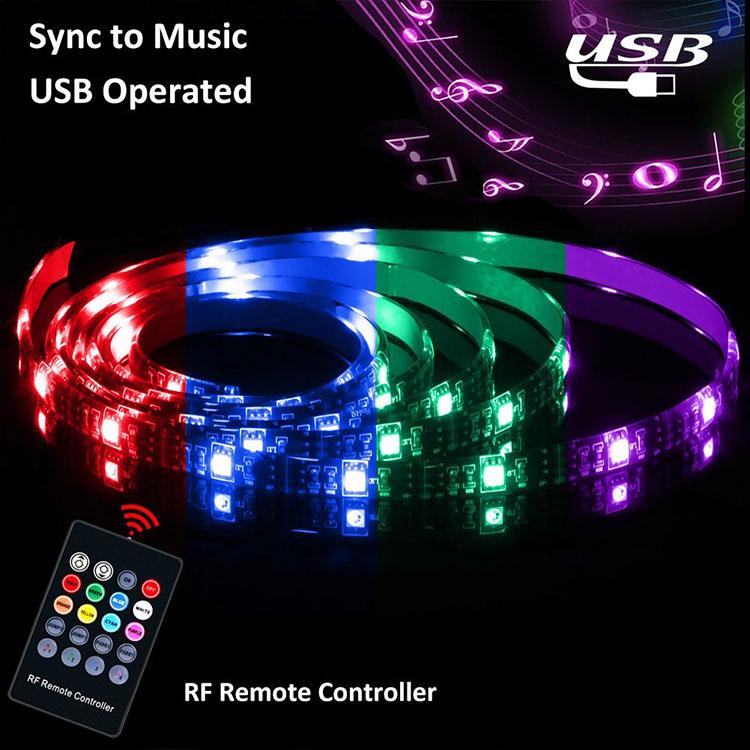 Hot Sale Music Flashing Changing Led Motion Sensor Rope Light