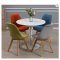 Top tempered glass round coffee table