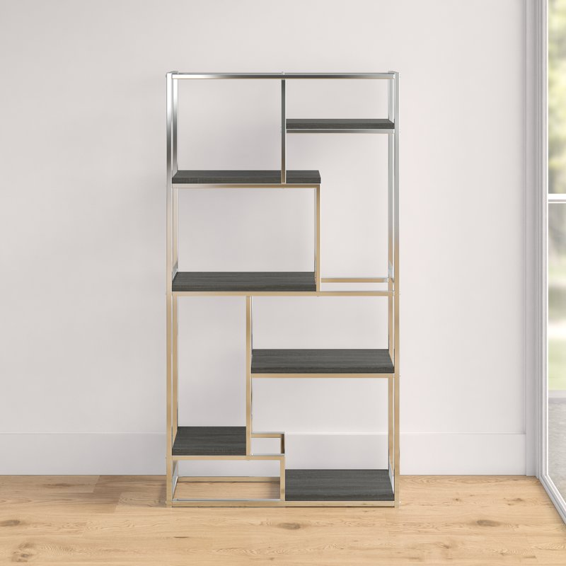 metal frame corner stainless steel bookshelf