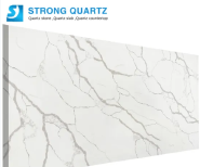 Wholesale Polished 3200*1600 20mm Calacatta/Calacutta White Quartz Stone for Kitchen Countertop