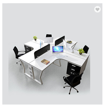 Modular workstation with partition office desk