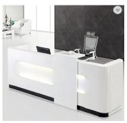 LED light modern design reception desk office reception counter design