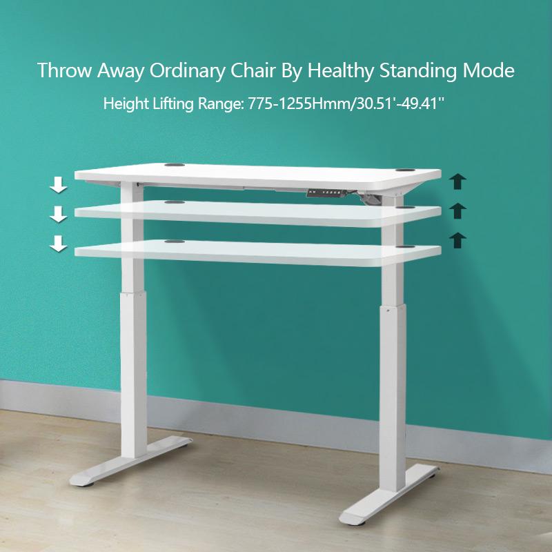 Electric Adjustable Height Office Standing Desk Ergonomic Free-Standing Workstation