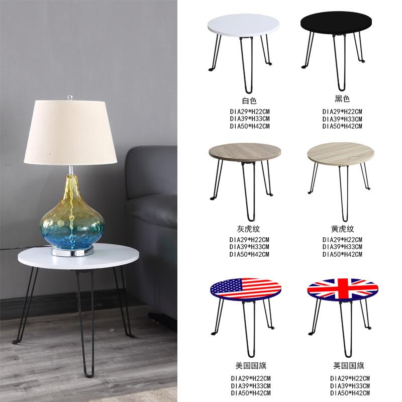 Modern Coffee Table With Foldable Metal Leg  Wood Coffee Table