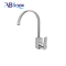 Single level stainless steel kitchen water sink faucet