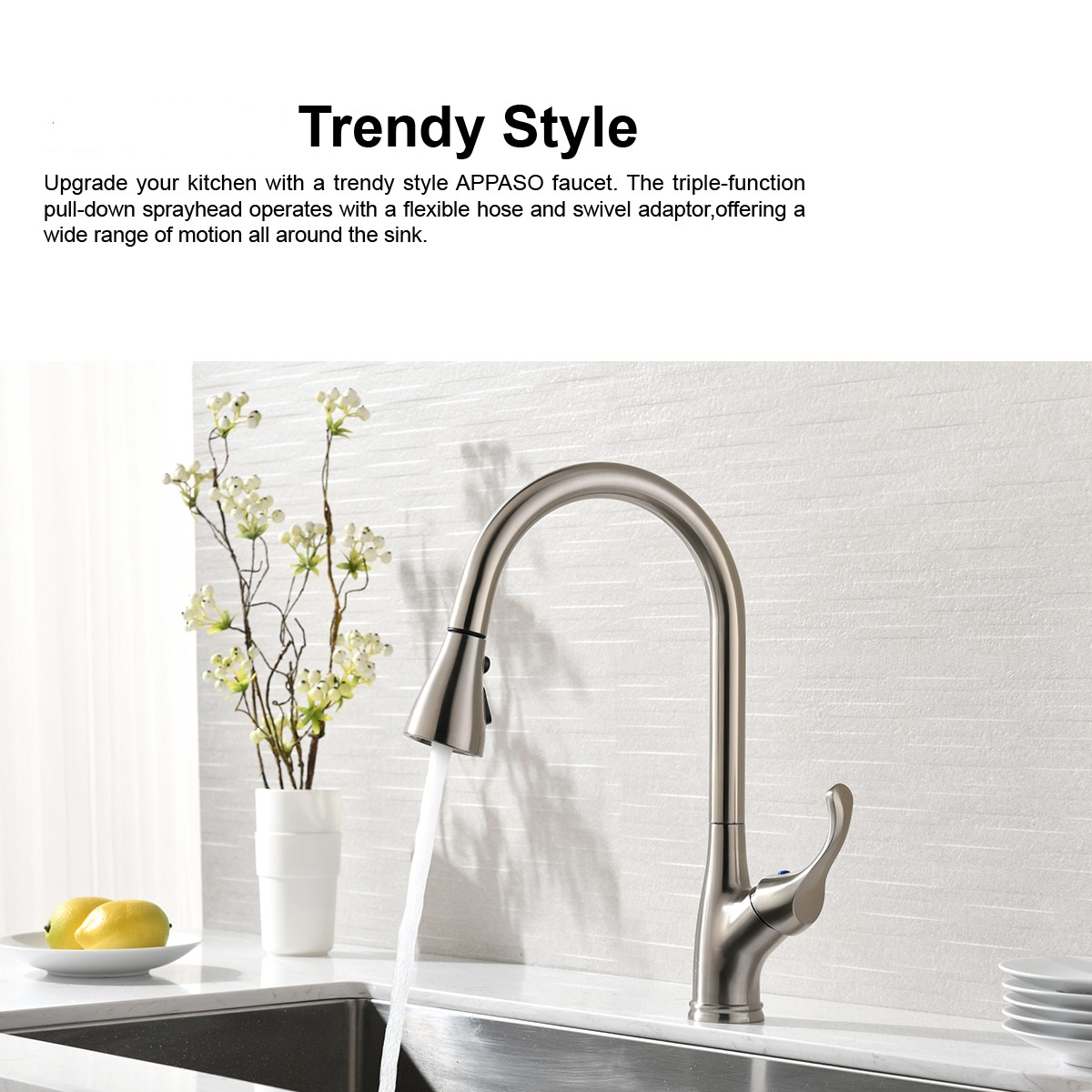 pull down sprayer kitchen faucets