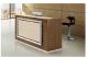 Antique reception counter melamine wooden office reception desk