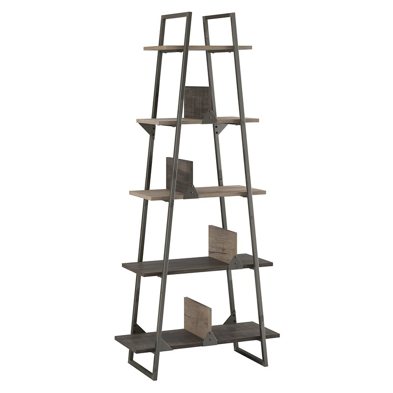 cheap leaning bookshelf