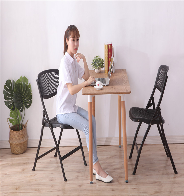 Wholesale high quality plastic italian training folding chair